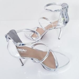 Mossimo Fairy Metallic Silver Sandals